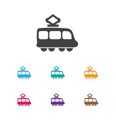 Of shipment symbol on tramway vector