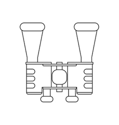 Outline binoculars accesorie tourism camping vector