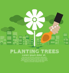 Planting Trees vector image