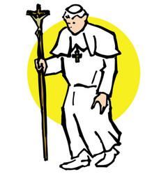 pope walk vector image