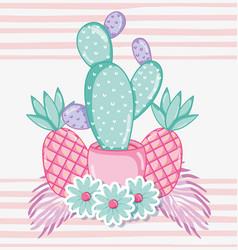 Punchy pastels cactus vector
