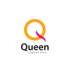 Queen logo template design vector