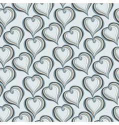 Seamless pattern with Abstract grey Hearts vector