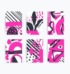 set decorative handmade backgrounds vector image