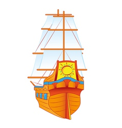 ship sails vector image