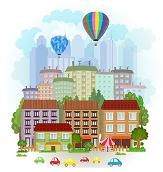 Summer cityscape vector