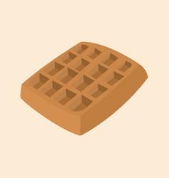 Sweet chocolate waffle vector
