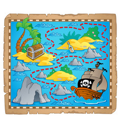 Treasure map theme image 3 vector
