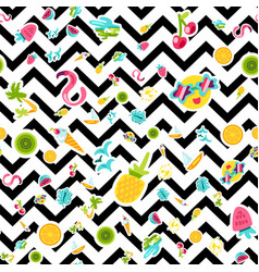 tropical summer seamless pattern vector image