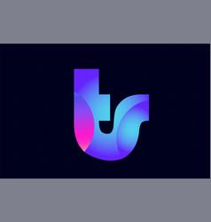 ts t s spink blue gradient alphabet letter vector image