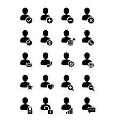 user icon line style set vector image