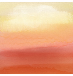watercolour sunset background vector image