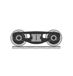wheels and bogie silhouette vector image