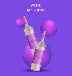 wine bottle made in a realistic style vector image