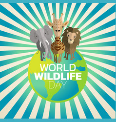 World wildlife day logo icon design vector