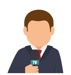 avatar journalist cartoon vector image