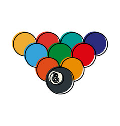 Balls pool or billiard icon image vector