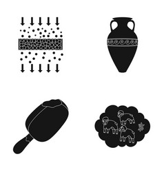 cleaning food and or web icon in black style vector image