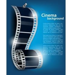 Film reel on blue background vector image vector image