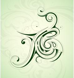 Floral design element vector image vector image