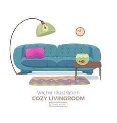 living room cozy interior vector image