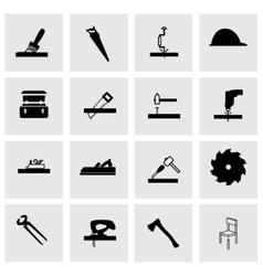 carpentry icon set vector image