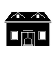 house facade loft pictogram vector image
