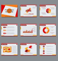 Professional business presentation design vector image vector image
