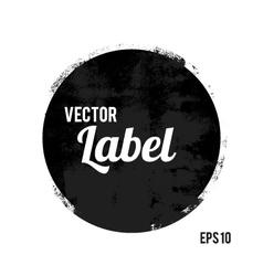 Round grunge design element vector image vector image