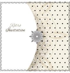 Vintage lace polka dots ornament card vector image vector image