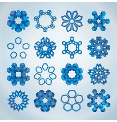 3d christmas snowflakes vector image vector image