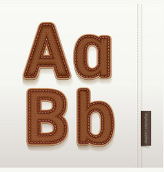 Alphabet Leather Skin Texture vector image vector image