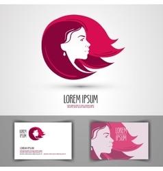barbershop logo design template beauty vector image vector image