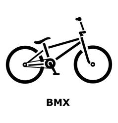 BMX bike icon simple style vector image
