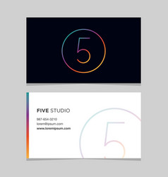 business-card-number-5 vector image vector image