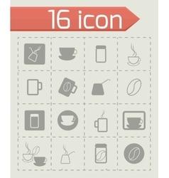 Coffe icon set vector image vector image