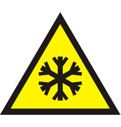 Cold warning sign vector