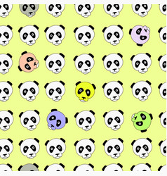 color panda head china design vector image
