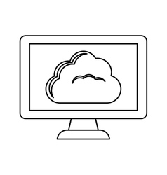 Figure database hosting related icon image vector
