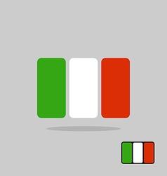 Italy flag stylized Flag Italian of geometrical vector image