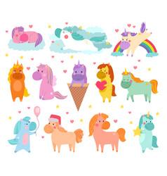 pony cartoon unicorn or baby character of vector image vector image