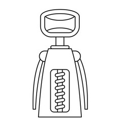 tool for opening bottles icon outline style vector image