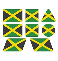 buttons with flag of Jamaica vector image