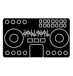 dj mixer - mixing music - party - techno icon vector image