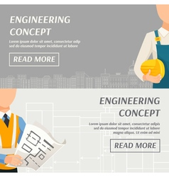 Engineering Concept Horizontal Banners vector image vector image
