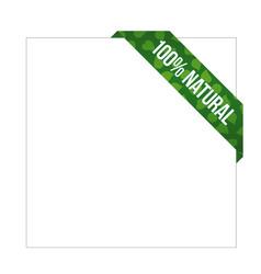 green ribbon with words 100 natural vector image