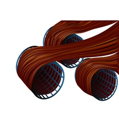 hair curles vector image