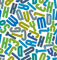 Seamless pattern with alphabet letters vector image