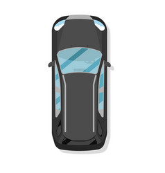 top view family hatchback car isolated icon vector image vector image