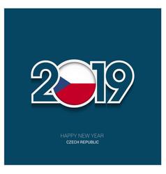 2019 czech republic typography happy new year vector